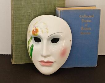 vintage art deco porcelain face mask VANDOR PELZMAN Japanese art