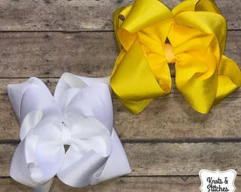 Double stacked boutique hairbows