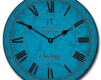 Sydney Blue Wall Clock