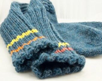 Men's All Wool Size US 8, Hand Knit Boot Socks, Hunting/Hiking Boot Socks, Socks and Hosiery, Casual Socks, Athletic Socks, Outdoors