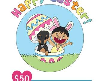 Customizable Digital Illustration for Easter!