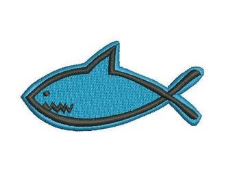 Jesus fish embroidery design