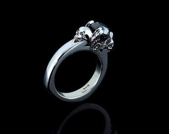 Angels and Demons Engagement Ring in White Gold