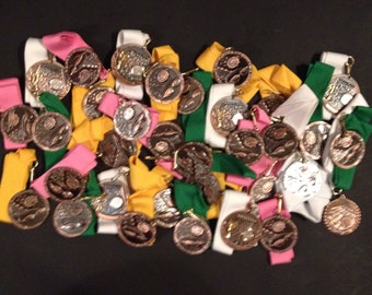 Huge lot of 33 unused solid metal swimming medals ready to be ingraved and givin out - lot 2