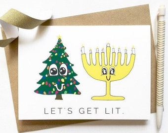 Funny Christmas or Hanukkah Card / Kill Me Now / Funny Holiday