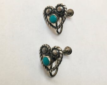 vintage Bell Trading Post screw back earrings in sterling