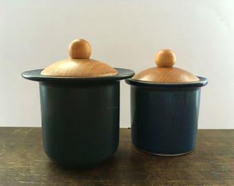Vintage Swedish jar by Hogānas Stengods Keramik Apoteket jar Ceramic storage box