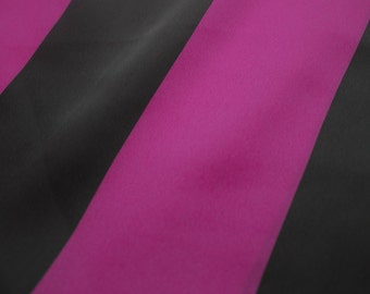 Black Berry Stipe Print on 58'' Dull Satin Fabric By the Yard Style 3204
