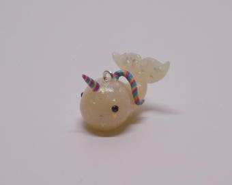 Polymer Clay Unicorn Themed Narwhal Charm