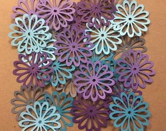 25 2 inch Flowers Cool Water Cricut Die Cuts