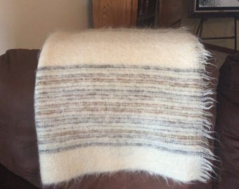 Vintage Royal Scot Mohair Wool Blanket Throw Made in Great Britain 48 x 72 Samuel Tweed & Co. LTD