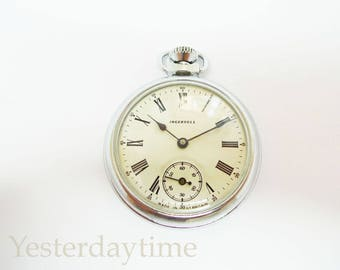 Ingersoll 1950's British Gents Pocket Watch C/W Chain