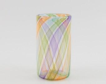 Hand Blown Glass Tumbler - Art Glass -High Ball Tumbler- made by James Moody - Drinking Glass