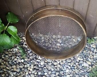 Vintage bentwood wooden garden sieve or riddle ~ perfect rustic display ~gardenware Gardenalia