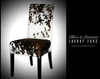 Ultimate Luxury Gift Or Accessory/Gorgeous Hollywood Brown White Speckle Cowhide Fur Chair/Luxury Cowhide Furniture/2017LuxuryCollection
