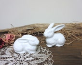 Easter  Bunny   Rabbit  Bunny Figurines   Dolls Miniatures   Easter Rabbit  - set of 2.
