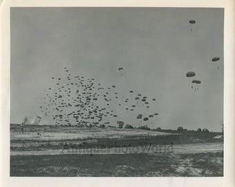 Massive parachute deployment strange vintage photo