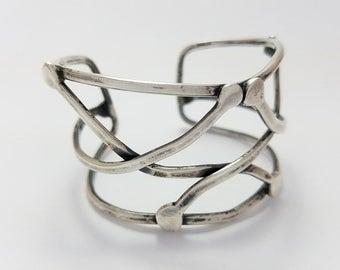 Vintage Mid Century Jules Brenner Sterling Silver Modernist Bracelet