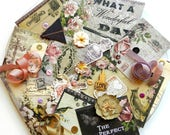 Embellishment Kit - Blue Fern Studios Timeless / Inspiration kit / Scrapbook Embellishments / Junk Journal Kit / Prima Flowers / Vintage Kit