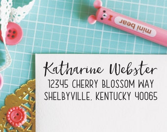 Custom Personalized Address Stamp - WEBSTER Style