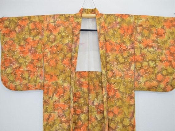 HAORI JACKET H49a – Shibori Green Orange Gradation 6sLP1Xid4