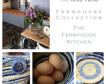 Farmhouse Kitchen Inspired Basket - The Farmhouse Collection - Made to Order Handmade Fabric Baskets and Trivets