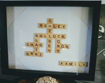 Scrabble Family Names Picture