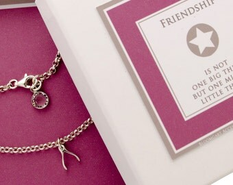 925 silver bracelet WISHBONE Friendship Bracelet 925 sterling silver
