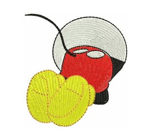 Mickey Mouse Machine Embroidery Designs - Disney Cartoon Instant Download Filled Stitches Design 172