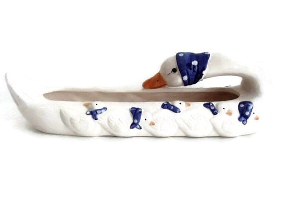 Ceramic Window Sills : Vintage ceramic goose window sill planter with