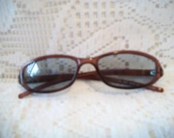 Vintage Ralph Lauren Polo Jeans Sunglasses Brown Frames Gray Lens Accessories