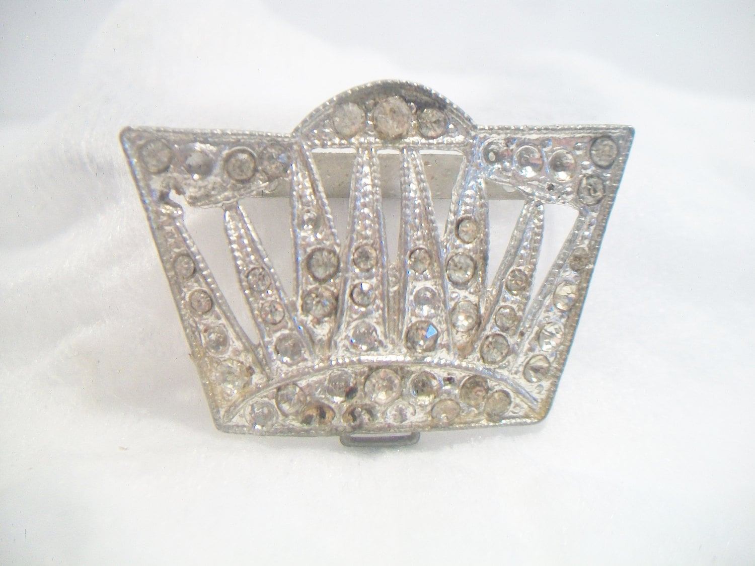 vintage rhinestone jewelry making supplies art deco silver