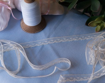 "French Valenciennes Lace- (LFV12EDG180)1/2"" edging"