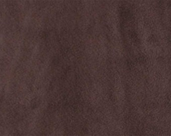 Brown Anti-Pill Fleece Fabric - One Yard - Antipill Fleece