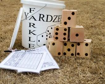 Yardzee - Yard Dice - Yard Dice Games - Outdoor Games - Jumbo Dice Games -  Farkle - Lawn Dice - Outdoor Wedding Game - Yard Dice