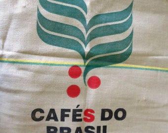 Jute Burlap Coffee Bean Bag, Brasil, Brazil