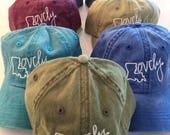 Hey, Penelope Vintage Wash Embroidered Lovely Hat