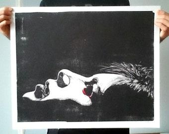I Have Seen Death - Linocut Print