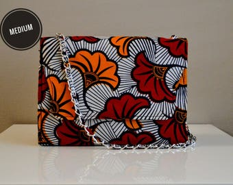 Fan Flowers African Ankara Purse