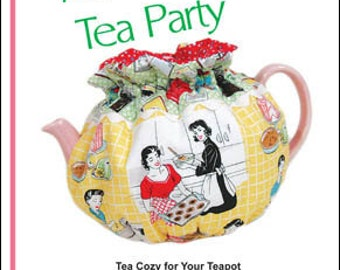 "Pattern ""Afternoon Tea Party"" Tea Cosy Pattern by Pink Sand Beach Designs (104) Paper Pattern"