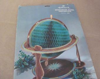 Vintage Hallmark Graduation Centerpiece, 1970's Hallmark Graduation Globe Honeycomb Centerpiece