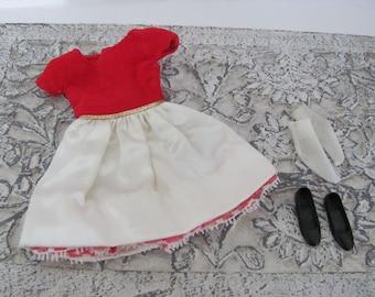 Vintage Skipper Clothes, 1960's Skipper #1902 Silk N Fancy, Skipper Dress, Accessories, Vintage Skipper Outfit, Barbie's Little Sister