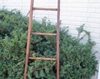 Orchard Ladder  Ready to ship now...  vintage 7 ft. 5 in tall, 13 w top 20 w base Refinished