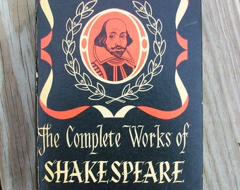 Vintage 1968 The Complete Works Of Shakespeare Hardcover Book