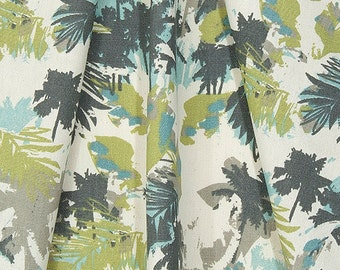 Palm Tree CURTAINS, Navy Blue, Olive, Grey, Light Blue, Offwhite Curtains