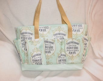Motherhood craft bag - knitting bag - crochet bag - bingo bag - groomers bag - nursing bag - carry all
