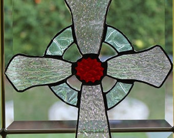 Stained glass Crusifix