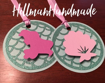 Mermaid Favor Tags, Under the Sea Favor Tag, Seashell favor tag