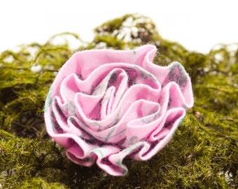 Pink Moss Lapel Flower