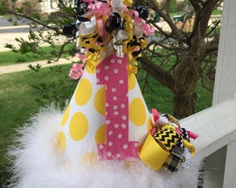 Bumble Bee Bow Party Hat